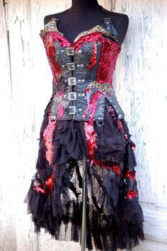 Skirt bustle skirt dance vampire belly dance goth