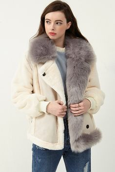 Sunmi Faux Fur Shearling Coat