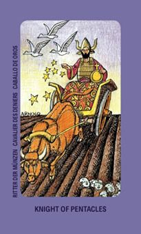 December 4 Tarot Card: Knight of Pentacles (Jolanda deck) Stay focused on your goals! There are no shortcuts now ~ success takes time, work, and determination, but it's oh so worth it