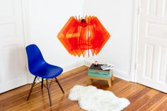 hanging lamp angular, puristic chandelier, interior dining room lamp, mood lighting, design lamp, living room lamp, acrylic lamp shade