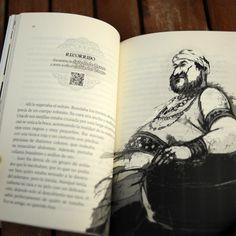 """Interior de """"La pandilla de Magos en la Alhambra encantada"""".  Detalle de la página con QR que permite visitar los escenarios reales en los que transcurre la aventura. http://www.culbuks.com/shop/41-la-pandilla-de-mago-en-la-alhambra-encantada.html"""