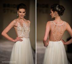 vestido de noiva de cetim e renda - Pesquisa Google