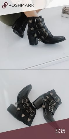 Black Boho Booties Cute for everyday wear super comfy, from Steve Madden Steve Madden Shoes Ankle Boots & Booties