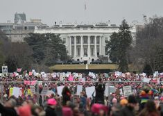 TOPSHOT - Demonstrators protest  near the White House in Washington, DC, for the Women's March on January 21, 2017..Hundreds of thousands of protesters spearheaded by women's rights groups demonstrated across the US to send a defiant message to US President Donald Trump. / AFP / Andrew CABALLERO-REYNOLDS        (Photo credit should read ANDREW CABALLERO-REYNOLDS/AFP/Getty Images)