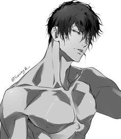 Sejin_Serolin Q on - Manga Elementals Dark Anime Guys, Hot Anime Boy, Cute Anime Guys, Anime Boys, Anime Sexy, Art Drawings Beautiful, Beautiful Sketches, Manga Boy, Anime Style