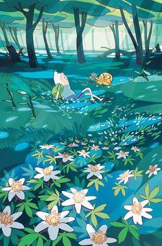 siga o caminho das flores #Adventures #Time