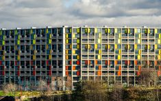 Park Hill, Sheffield, England. A redeveloped 1960s social housing estate.