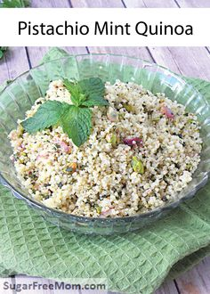 This Pistachio Mint Quinoa recipe is a perfect side dish to go along with your favorite main course! Make this simple dish everyone is sure to love.