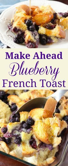 Make ahead breakfast casseroles make it easy to get a satisfying breakfast on the table. This Blueberry French Toast version is a family favorite.