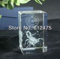 3D laser engraved Crystal figurine Capricorn religious gift,tourism souvenir gift home decor&birthday gift $29.95