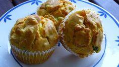 Muffin salati ai gamberetti zucchine e curry