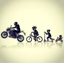 its my evolution in one picture xD Moto Enduro, Moto Bike, Motorcycle Tattoos, Motorcycle Bike, Evolution, Duke Bike, Bike Sketch, Bike Photoshoot, Bike Drawing