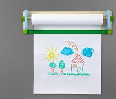 Uchwyt naścienny na rolki papieru do malowania, creative, brainstorming, kalambury