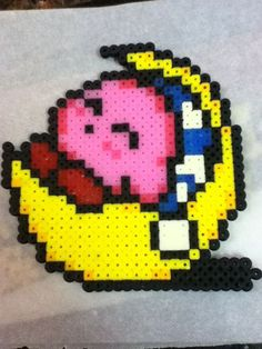 -Perler- Sleeping Kirby by ~OtakuLuka on deviantART