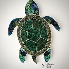 Quilled Paper Art: Turtle