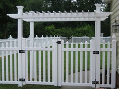 6 foot picket fence with gate arbor - Google Search