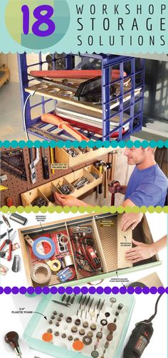 quick and clever workshop storage solutions - tame the clutter and work smarter with these ingenious storage tips