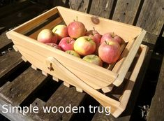 Simple wooden trug