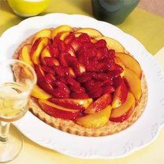 Strawberry-Nectarine Almond Tart Recipe | MyRecipes.com