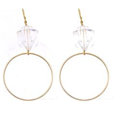 Rock Crystal Quartz Earrings - love these for everyday or a night out! #lemel