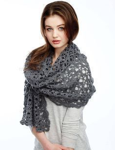 crochet shawl patterns rectangle shape with flower design Crochet Scarves, Crochet Shawl, Crochet Clothes, Crochet Stitches, Free Crochet, Knit Crochet, Shawl Patterns, Knitting Patterns Free, Free Knitting