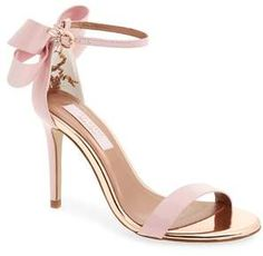 e7a7838d2 Ted Baker London Sandalo Sandal - A leg-lengthening stiletto heel meets a  sumptuous leather bow on an ankle-strap statement sandal glinting with  signature ...
