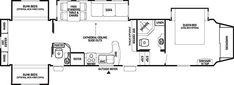 Probity Fifth Wheel- Model 35QB4 Bunkhouse $40,850;  2 bedroom, 1 & half bath, big closet space