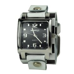Nemesis Women's WCHB516K Lite SQ Collection Checkered White/Black Leather Band Watch Nemesis. $24.50. Silver-tone alloy case. 100% usa made genuine leather. Durable mineral crystal protects watch from scratches. Japanese quartz movement. Case diameter: 36 mm. Save 44%!