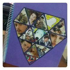 DIY:caderno diamante