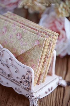 Easy to make fabric envelopes.  Handcrafted stationery is fun to create and lovely to gift.