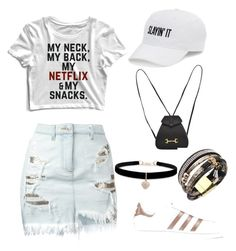 """Simply white"" by aurellyastephania on Polyvore featuring SO, Versus, adidas Originals, Gucci and Betsey Johnson"