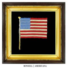 48 Star Antique Flag Made Entirely by Hand Tatting