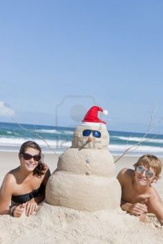 Must remember this for our next card...Christmas at the beach