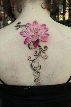 lotus tattoo by Mirek vel Stotker by stotker, via Flickr