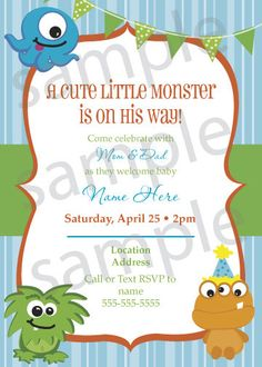 A personal favorite from my Etsy shop https://www.etsy.com/listing/238223673/baby-boy-monster-shower-or-birthday