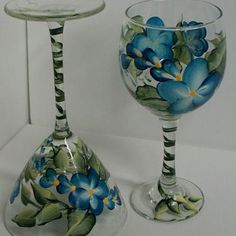 Hand Painting Wine Glasses