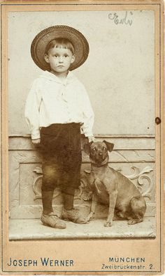 Cute little boy and his dog. From the e-book, Dressing up with Dogs.