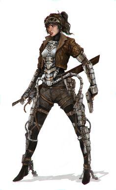 Mechromancer = Light infantry Soldier by Eyardt.deviantart.com on @deviantART