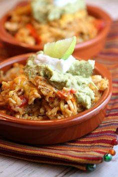 Tex Mex Chicken and Rice Casserole Recipe - RecipeGirl.com