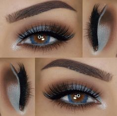 We loved this soft blue color combo #BHBeauty @paola.11 created with our 88 Matte - Color Eyeshadow Palette  #BHCosmetics