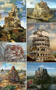The Tower of Babel in art. The article is in Italian which I don't understand, but the paintings are exquisite and speak for themselves.