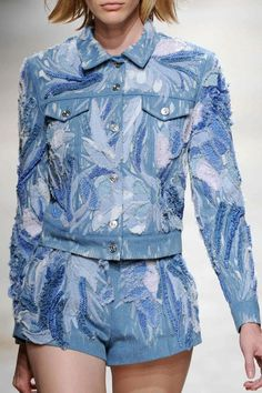 How amazing is this denim jacket?! Just one of the things we're lusting after from @barbara_bui SS14 #PFW #denimlust #wgsndenim