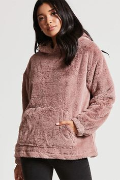 Product Name:Faux Fur Oversized Hoodie, Category:outerwear_coats-and-jackets, Price:37.9