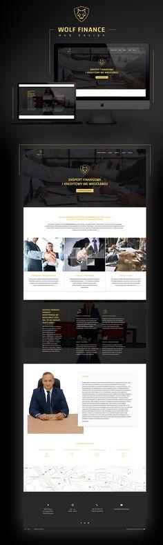 """Popatrz na mój projekt w @Behance: """"Wolf Finance Website"""" https://www.behance.net/gallery/58002995/Wolf-Finance-Website"""