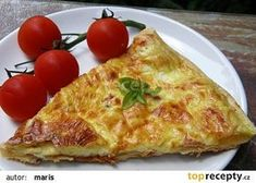 Slaný koláč recept - TopRecepty.cz Quiche, Pizza, Food And Drink, Bread, Cheese, Cooking, Recipes, Kitchen, Brot