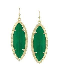 Dora Drop Earrings in Emerald Green - Kendra Scott Jewelry. Available October 16, 2013.