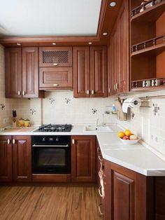 Белая столешница на угловой кухне Kitchen Cupboard Designs, Kitchen Room Design, Home Decor Kitchen, Kitchen Furniture, Kitchen Interior, Kitchen Cabinets And Countertops, Rustic Kitchen Cabinets, Custom Kitchens, Home Kitchens