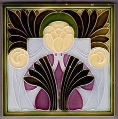 Jugendstil Fliese Kachel Art Nouveau Tile MÜGELN