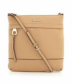 Calvin Klein Leather Crossbody Purse #Dillards