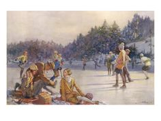 Happy Christmas Hours by W. Bryce Hamilton. Happy Christmas Hours by W. Bryce Hamilton - Giclee Print. Price: $49.99